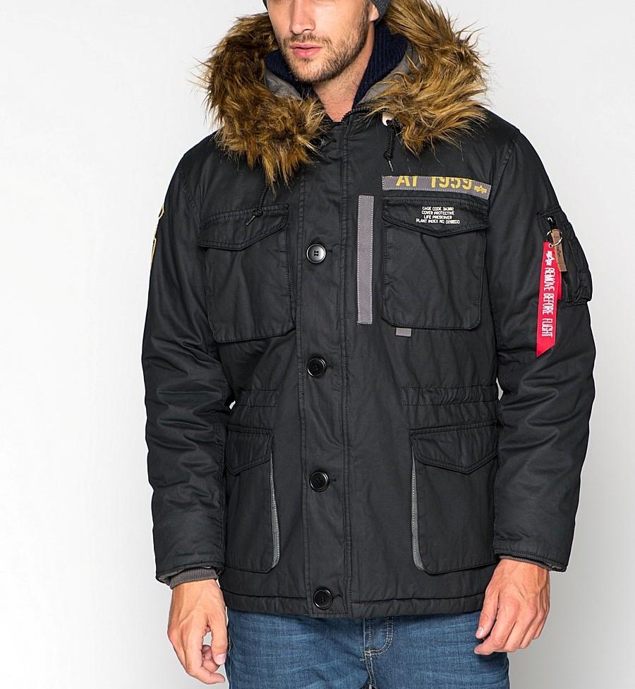 куртка аляска черная